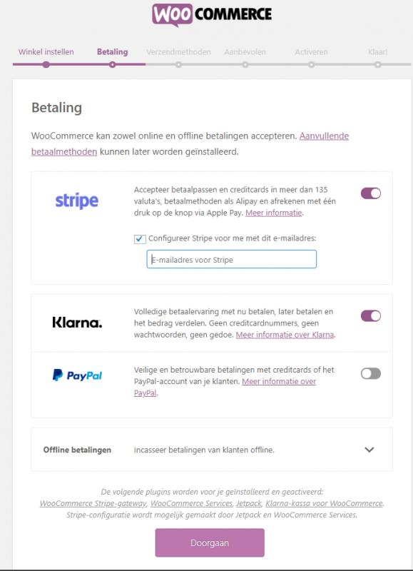 betalingsmethoden toevoegen woocommerce webshop
