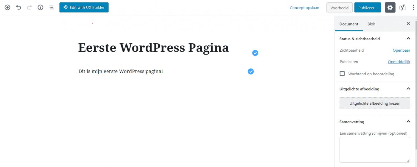 WordPress pagina maken, wordpress website maken, website maken met wordpress, gratis website maken, wordpress website zelf bouwen